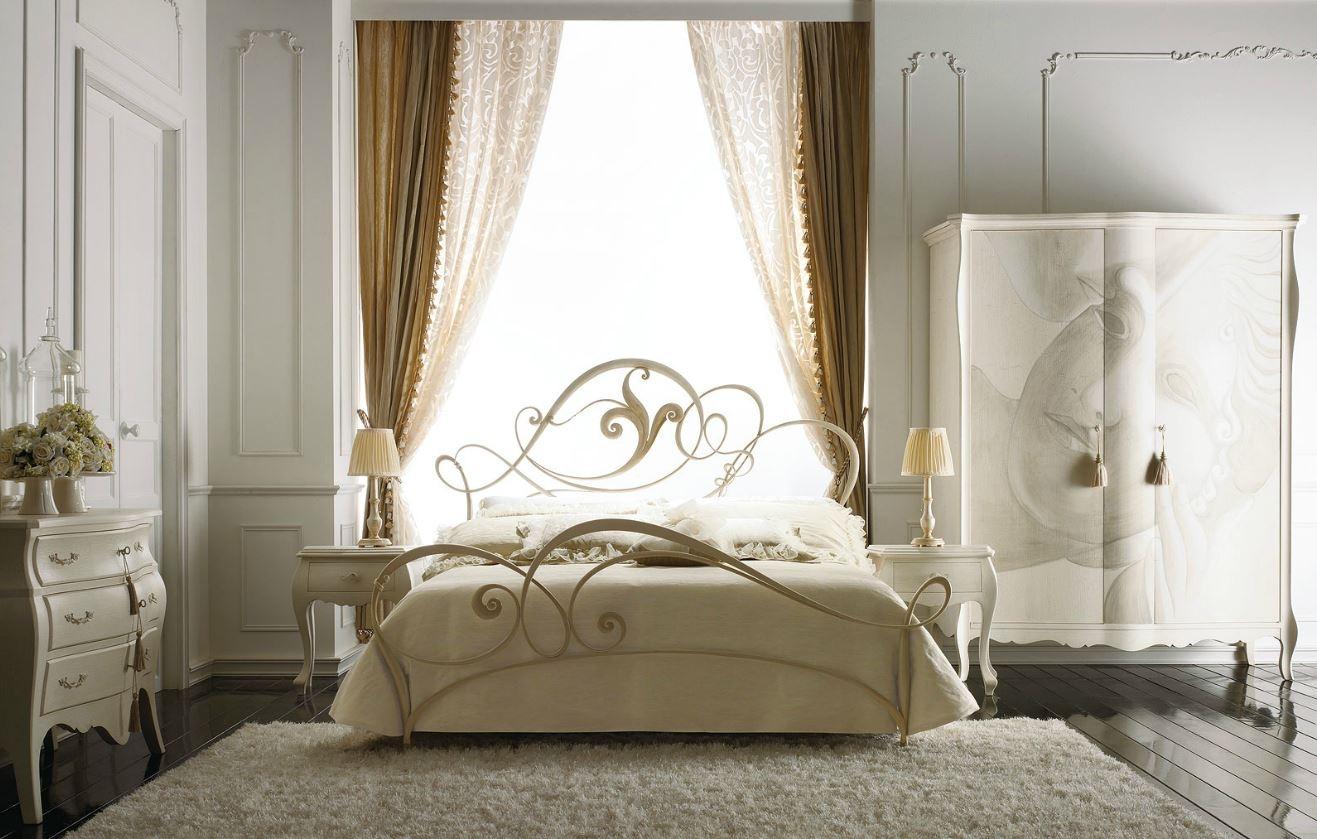 Camera da letto Perlage in ferro battuto Giusti Portos